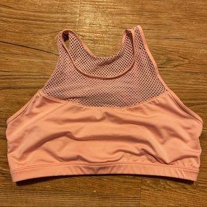 Marika XL peach mesh sports bra